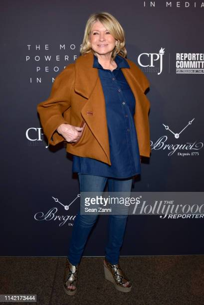 Martha Stewart attends The Hollywood Reporter Celebrates The Most Powerful People In Media at The Pool on April 11 2019 in New York City
