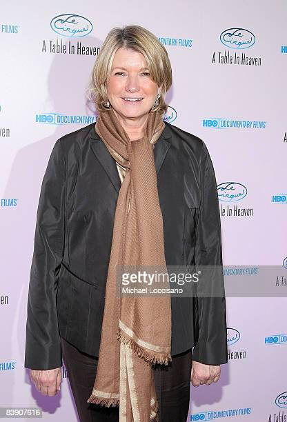 Martha Stewart attends the New York celebration of the HBO documentary Le Cirque A Table In Heaven at Le Cirque on December 3 2008 in New York City