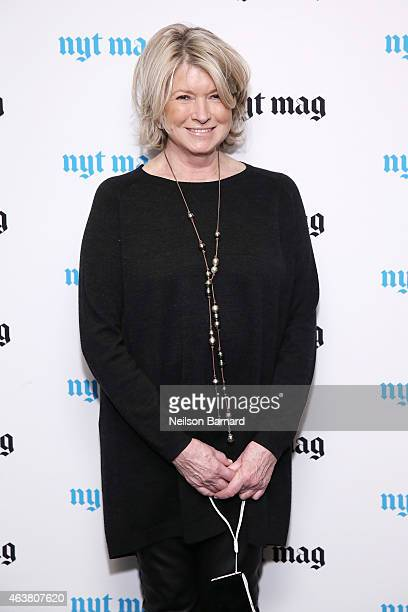 Martha Stewart attends The New York Times Magazine Relaunch Event on February 18 2015 in New York City