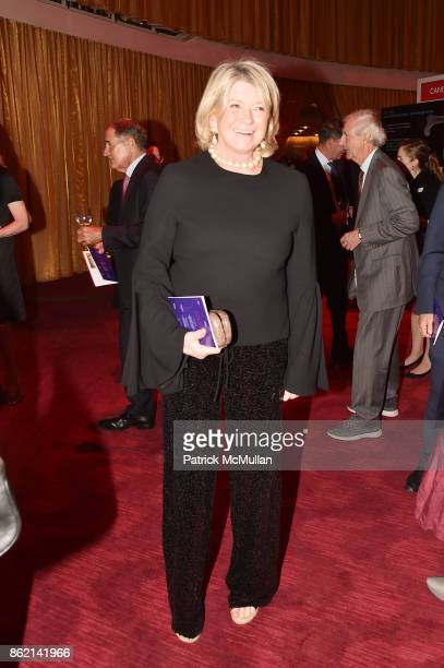 Martha Stewart attends the NYSCF Gala Science Fair at Jazz at Lincoln Center on October 16 2017 in New York City