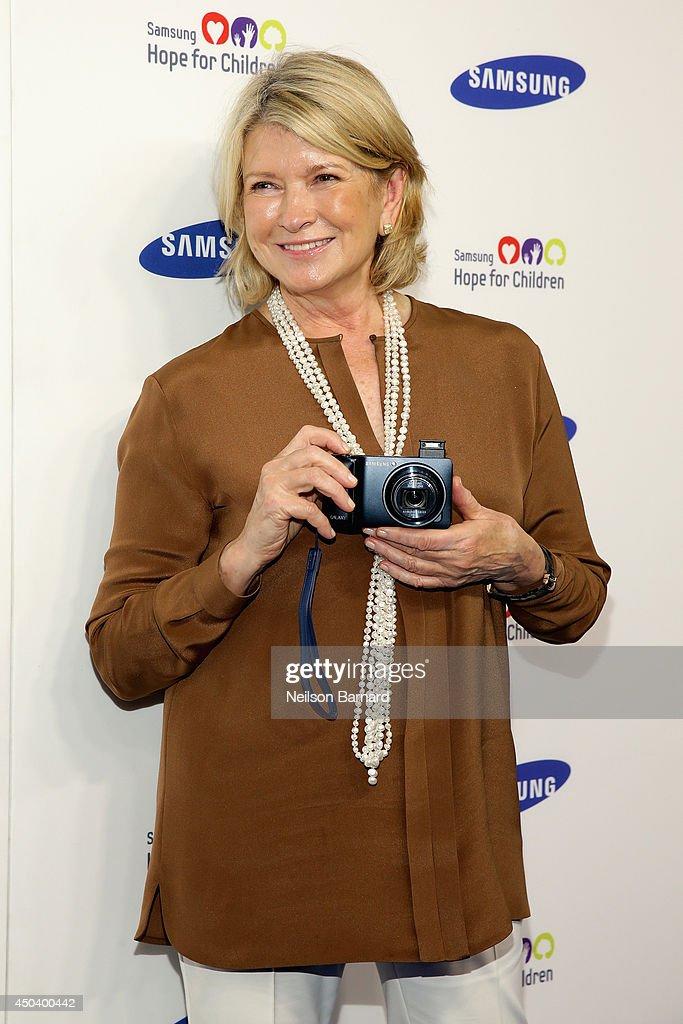 Martha Stewart attends the Samsung Hope For Children Gala 2014 on June 10, 2014 in New York City.