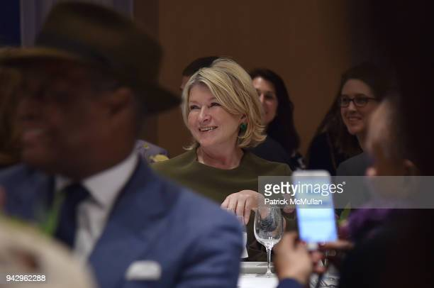 Martha Stewart attends the Spring Party to benefit Aperture and to celebrate The Photographer in the Garden at Public Hotel on April 6 2018 in New...