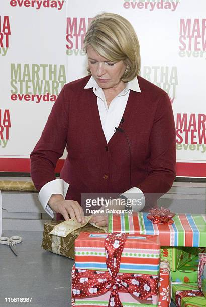 Martha Stewart attends the Women in Need Donation Drive at Kmart December 4 2007 in New York City