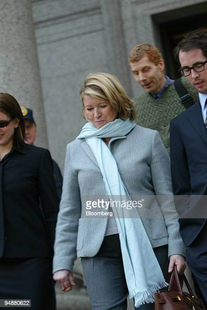 Martha Stewart center exits Manhattan Federal Court in New York with her daughter Alexis left on March 1 2004 Others pictured are unidentified...