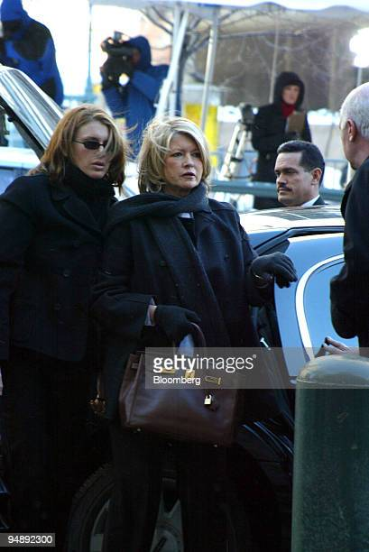 Martha Stewart center is accompanied by her daughter Alexis Stewart left as she arrives on Thursday January 29 at the federal courthouse in New York...