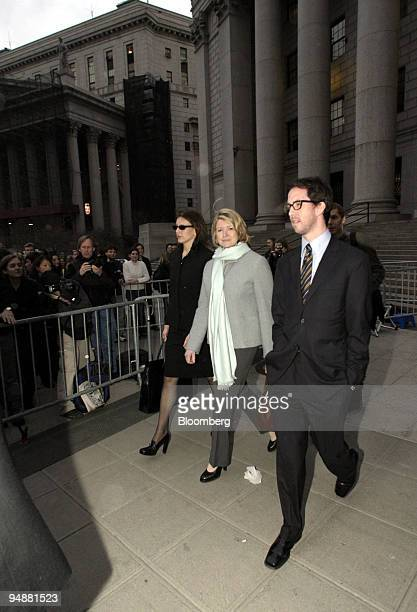 Martha Stewart center leaves federal court with her daughter Alexis left in New York Monday March 1 2004 Lawyers in the Martha Stewart trial focused...