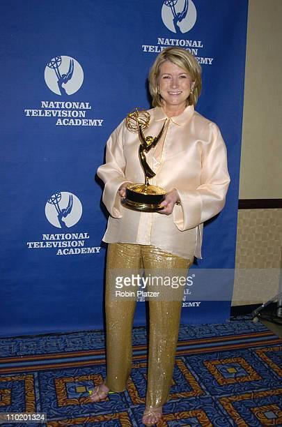 Martha Stewart during 31st Annual NATAS Daytime Emmy Craft Awards at The Marriott Marquis Hotel in New York New York United States
