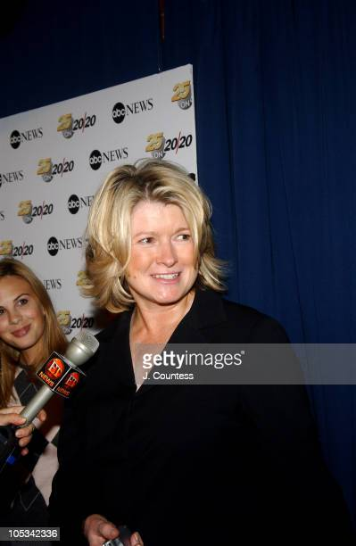 Martha Stewart during ABC News honors Barbara Walters for her 25 years on '20/20' at Times Square Studio in New York City New York United States