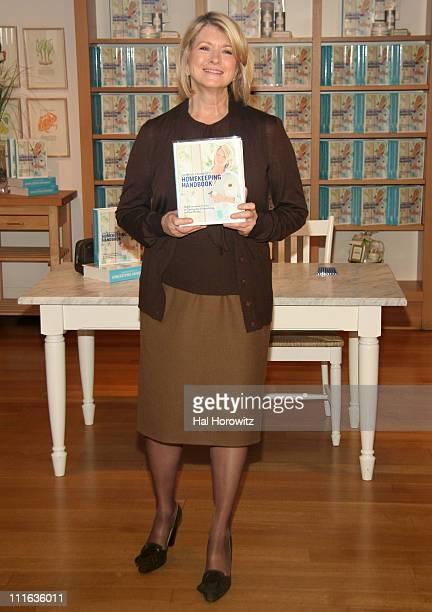 Martha Stewart during Martha Stewart Book Signing for 'Martha Stewart's Homekeeping Handbook' November 1 2006 at WillamsSonoma in New York City New...