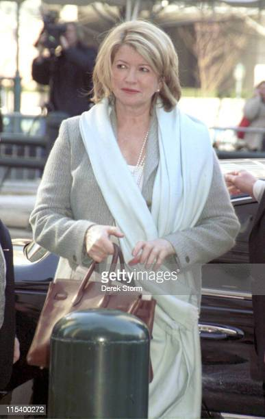 Martha Stewart during Martha Stewart enters Federal Court at Federal Courthouse in New York City New York United States
