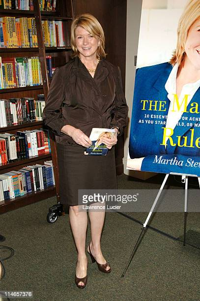 Martha Stewart during Martha Stewart Signs Her Book 'The Martha Rules 10 Essentials for Achieving Success as You Start Grow or Manage a Business' at...