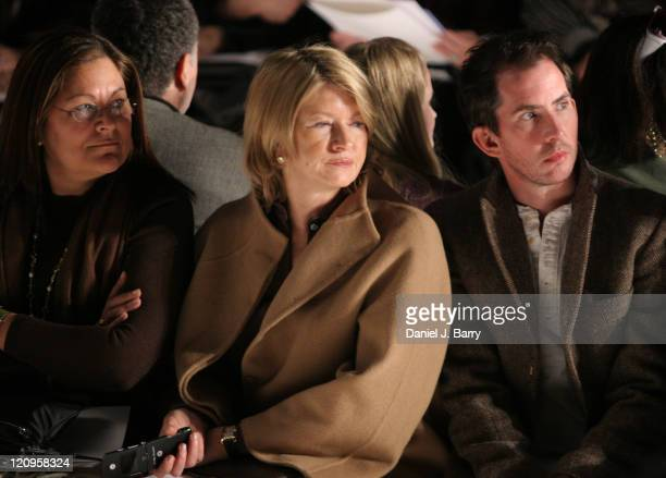 Martha Stewart during Olympus Fashion Week Fall 2006 Chado Ralph Rucci Front Row and Backstage at Bryant Park in New York City NY United States