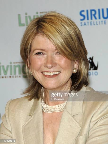 Martha Stewart during Sirius Satellite Radio to Launch Exclusive Martha Stewart Channel at Sirius Satellite Radio Offices New York in New York City...