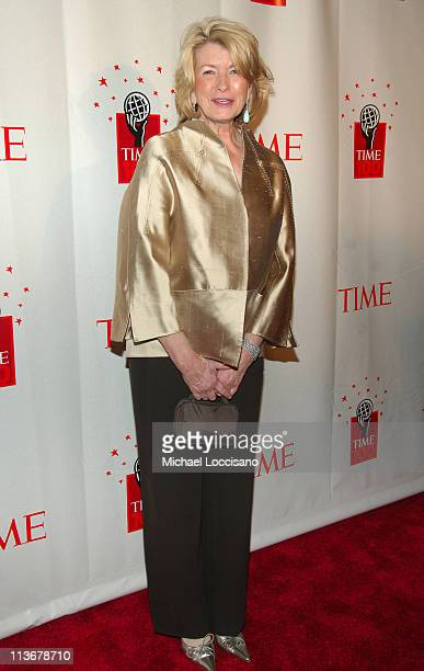 Martha Stewart during Time Magazine's 100 Most Influential People 2006 Inside Arrivals at Jazz at Lincoln Center in New York City New York United...