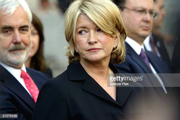 Martha Stewart exits court after the sentencing phase of her conviction on a stocktrading scandal July 16 2004 in New York City Stewart was sentenced...
