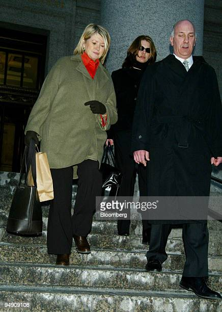 Martha Stewart exits the federal courthouse in New York February 2 2004 with her daughter Alexis center