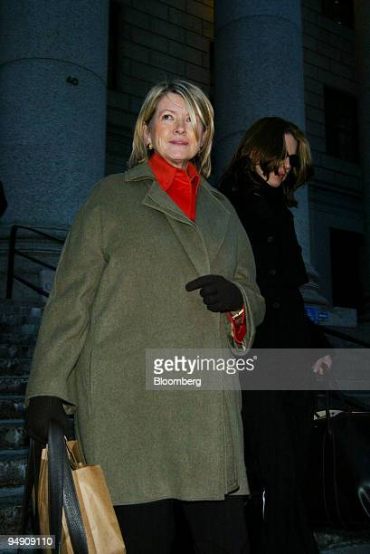 Martha Stewart exits the federal courthouse in New York February 2 2004 with her daughter Alexis right