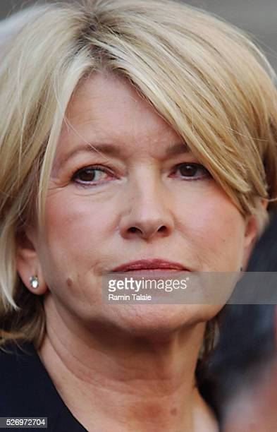 Martha Stewart following her sentencing in Federal Court in lower Manhattan being convicted of obstruction of justice related to the sale of ImClone...