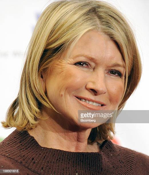 Martha Stewart founder of Martha Stewart Living Omnimedia Inc stands for a photograph at the 121212 Concert for Sandy Relief in New York US on...