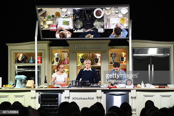 Martha Stewart gives a demonstration of recipes from her book One Pot on the KitchenAid stage at the Grand Tasting presented by ShopRite featuring...