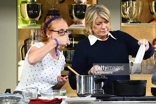 """Martha Stewart gives a demonstration of recipes from her book """"One Pot"""" on the KitchenAid stage at the Grand Tasting presented by ShopRite featuring..."""