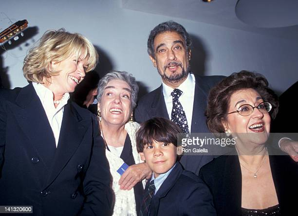 Martha Stewart guests Placido Domingo and Marta Ornelas at the Grand Opening of Restaurant Domingo Restaurant Domingo New York City
