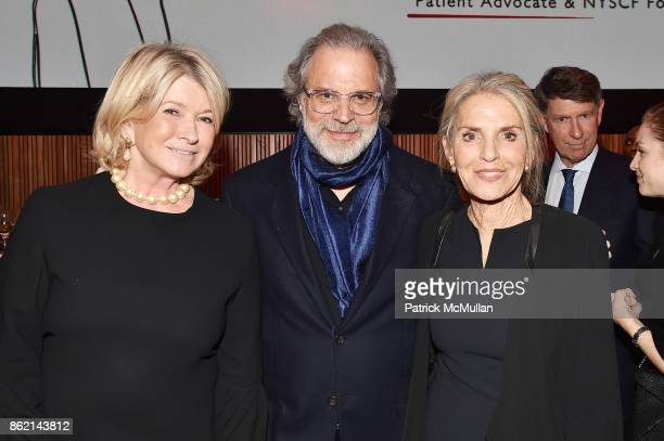 Martha Stewart honoree Clifford Ross and Dorothy Lichtenstein attend the NYSCF Gala Science Fair at Jazz at Lincoln Center on October 16 2017 in New...