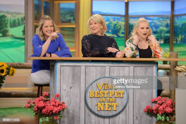 THE VIEW Martha Stewart is the guest on Tuesday May 15 2018 on Walt Disney Television via Getty Images's The View The View airs MondayFriday on the...