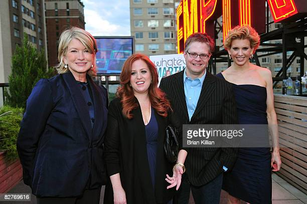 Martha Stewart Jennifer Koppelman Hutt Chad Youngblood and Alexis Stewart attend the launch party for Whatever Martha at the Empire Hotel Roof Deck...