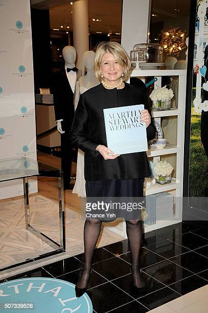 Martha Stewart launches her new book 'Martha Stewart Weddings Ideas And Inspiration' at Macy's Herald Square on January 28 2016 in New York City