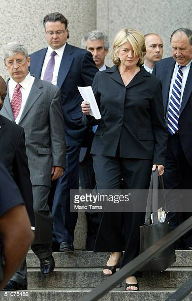 Martha Stewart leaves a Federal Court after her sentencing hearing July 16 2004 in New York City Stewart was sentenced to five months in federal...