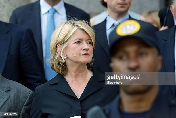Martha Stewart leaves Manhattan Federal Court after her sentencing Friday July 16 in New York Stewart was sentenced to five months in prison plus...
