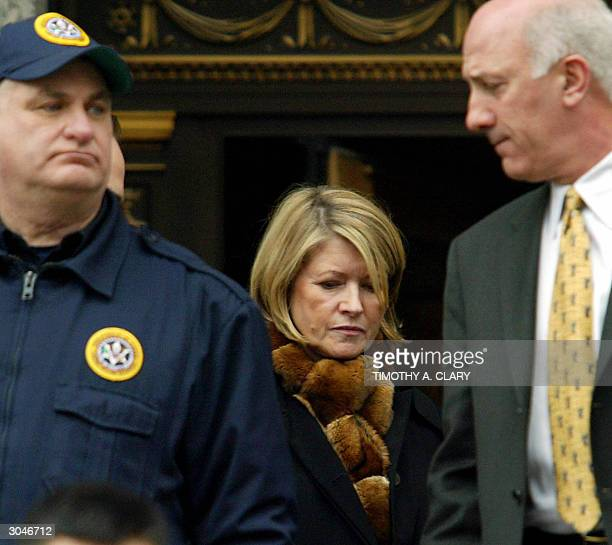 Martha Stewart leaves the US Federal Courthouse after being found guilty 05 March 2004 The Multimillionaire lifestyle guru was convicted on charges...