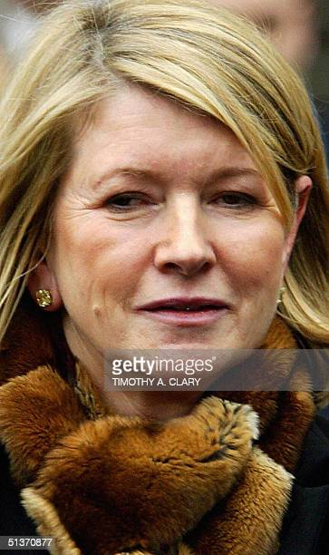 Martha Stewart leaves the US Federal Courthouse in New York after being found guilty of lying about selling shares of ImClone Systems stock 05 March...