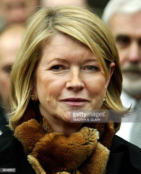 Martha Stewart leaves US Federal Courthouse after being found guilty 05 March 2004 The Multimillionaire lifestyle guru was convicted on charges of...