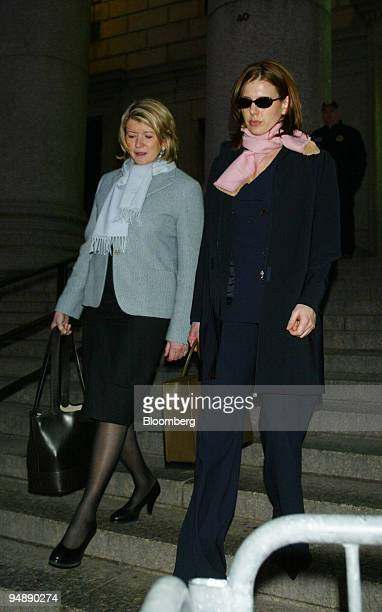 Martha Stewart left and daughter Alexis leave the federal courthouse in New York February 10 2004