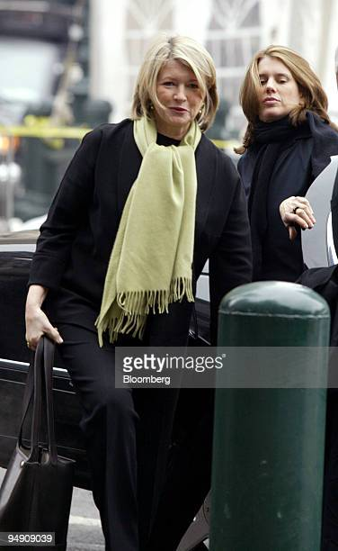 Martha Stewart left and her daughter Alexis arrive at federal courthouse in New York February 3 2004