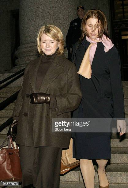 Martha Stewart left leaves federal court wtih her daughter Alexis in New York Monday February 23 2004 Stewart's broker thought ImClone Systems Inc...