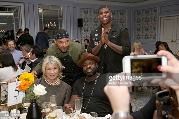 Martha Stewart Lester Walker and Black Thought attend A Dinner with Ghetto Gastro hosted by Martha Stewart part of the Bank of America Dinner series...