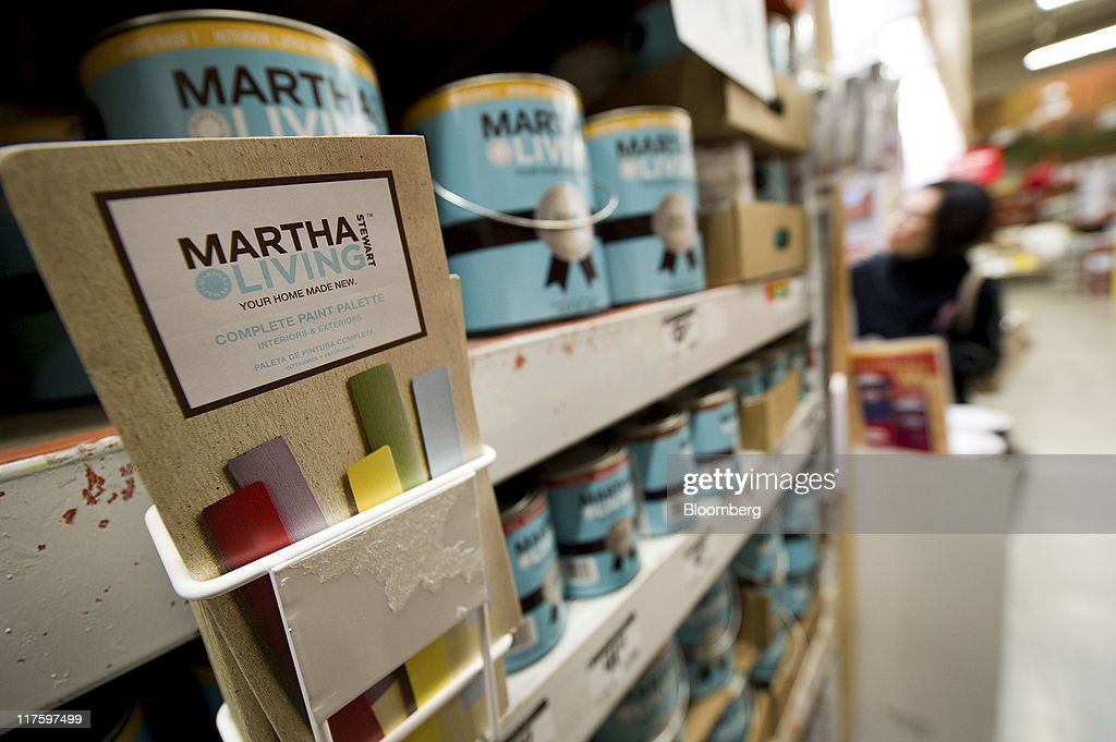 Martha Stewart Living Omnimedia Inc. Paint Is Seen On Display For Sale At  The Home