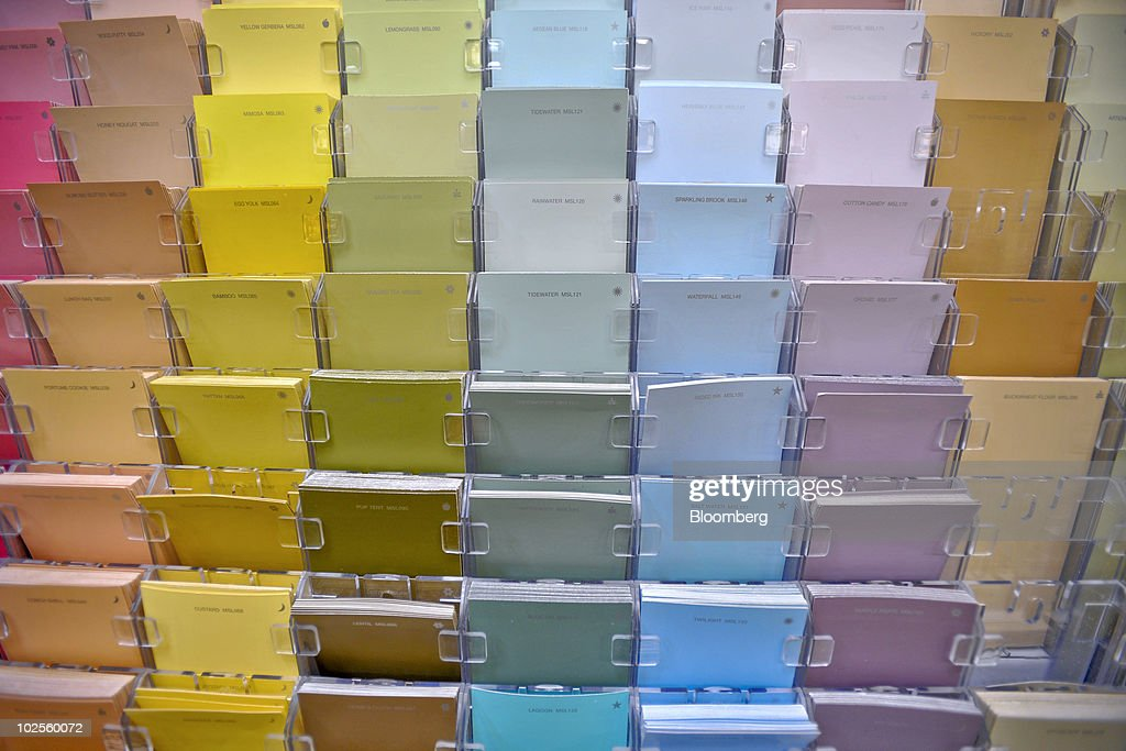 Martha Stewart Living Paint Swatches Sit On Display In A Home Depot Store  In Atlanta,