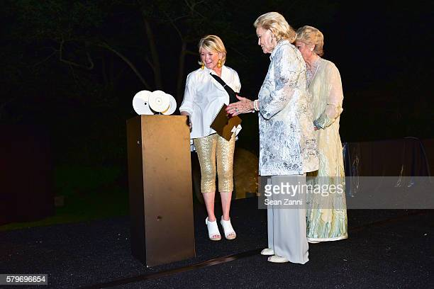 Martha Stewart Luanne Wells and Molly Chappellet at LongHouse Reserve 2016 Jubilee Year Summer Benefit Serious Moonlight at LongHouse Reserve on July...