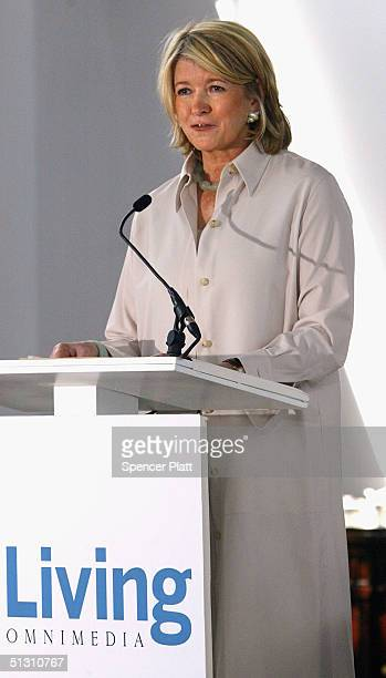 Martha Stewart makes a statement to the media that she has decided to surrender for prison as soon as possible citing the need to get on with her...