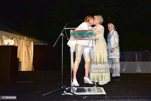 Martha Stewart Molly Chappellet and Luanne Wells at LongHouse Reserve 2016 Jubilee Year Summer Benefit Serious Moonlight at LongHouse Reserve on July...