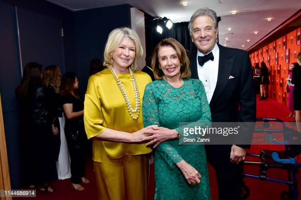 Martha Stewart Nancy Pelosi and Paul Pelosi attend the Time 100 Gala 2019 at Jazz at Lincoln Center on April 23 2019 in New York City