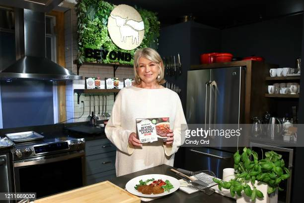 Martha Stewart partners with Beyond Meat for the launch of its newest retail product Beyond Breakfast Sausage in New York City on March 10, 2020.