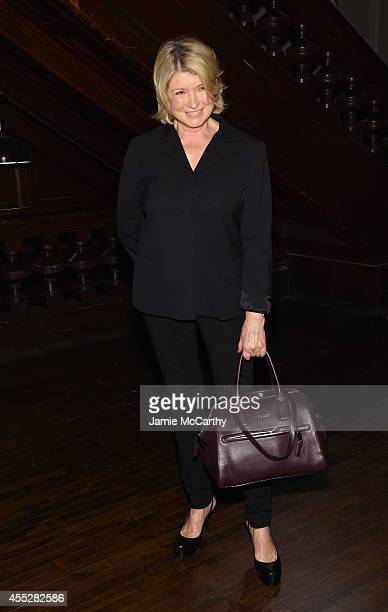 Martha Stewart poses backstage at the Marc Jacobs fashion show during MercedesBenz Fashion Week Spring 2015 at Park Avenue Armory on September 11...