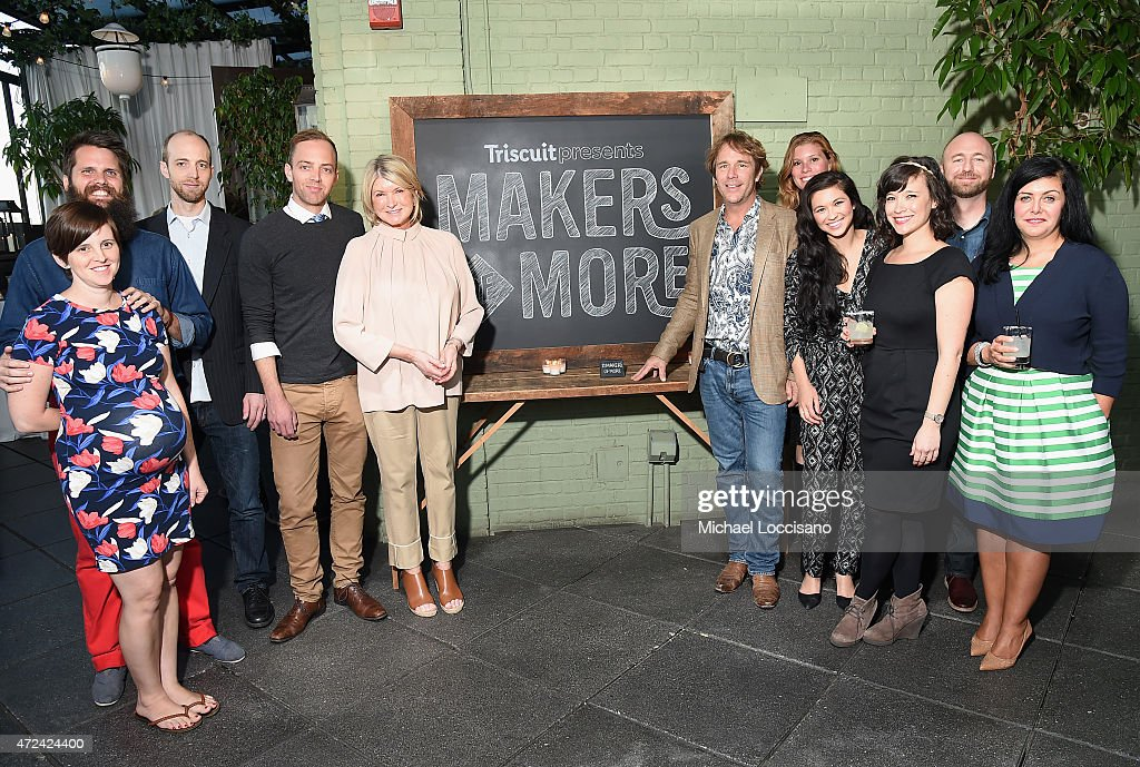 Martha Stewart poses for a photo with Makers of More as Triscuit partners with Martha Stewart to unveil Limited Edition Triscuit Flavor at Gramercy Park Hotel on May 6, 2015 in New York City.