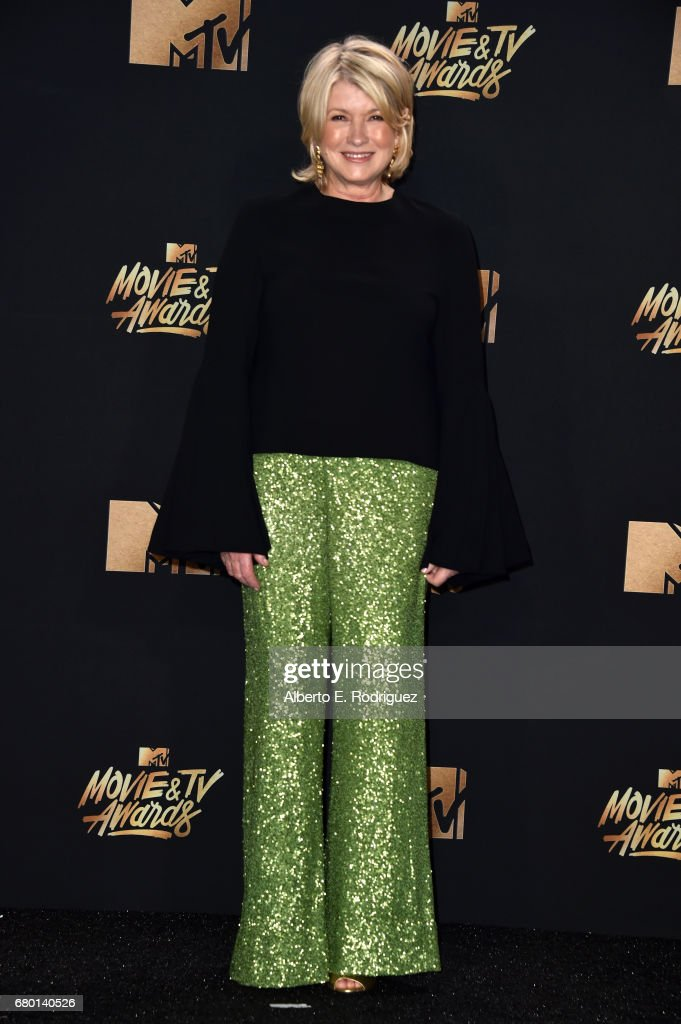 Martha Stewart poses in the press room during the 2017 MTV Movie And TV Awards at The Shrine Auditorium on May 7, 2017 in Los Angeles, California.