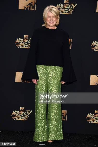 Martha Stewart poses in the press room during the 2017 MTV Movie And TV Awards at The Shrine Auditorium on May 7 2017 in Los Angeles California